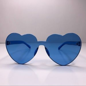 Rimless Blue Heart Sunglasses Valentine's Day!